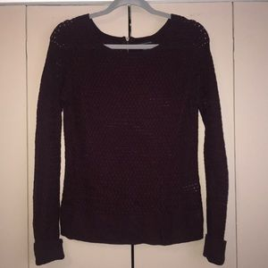 Purple American Eagle Long Sleeve Sweater
